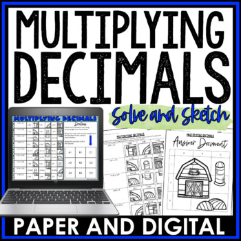 Multiplying Decimals Solve and Sketch