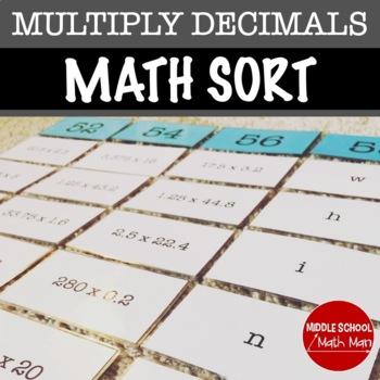 Multiplying Decimals Sort