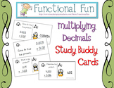 Multiplying Decimals Study Buddy Cards