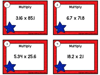 Decimals: Multiplying Decimals Task Cards