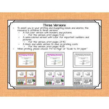 Multiplying Decimals Task Cards