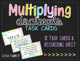 Multiplying Decimals Task Cards (5.NBT.7)