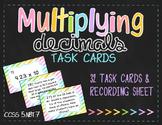 Multiplying Decimals Task Cards (5.NBT.7)
