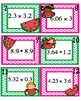 Multiplying Decimals Task Cards - Melon Themed
