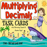 Multiplying Decimals Task Cards {Multiple Choice, Standard