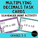 Multiplying Decimals Task Cards Scavenger Hunt