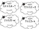 Multiplying Decimals Task Cards Scavenger Hunt With Riddle