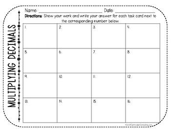 Multiplying Decimals Task Cards | TEKS 5.3d | TEKS 5.3e | Math Test Prep