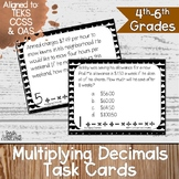 Multiplying Decimals Task Cards | TEKS 5.3d | TEKS 5.3e |