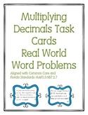 Multiplying Decimals Task Cards Word Problems