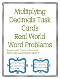 Multiplying Decimals Task Cards Word Problems