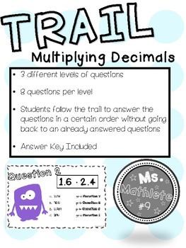 Multiplying Decimals Trail