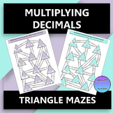 Multiplying Decimals Triangle Mazes