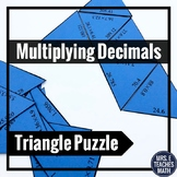 Multiplying Decimals Triangle Puzzle