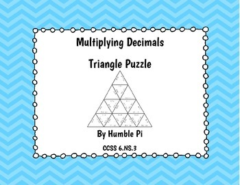 Multiplying Decimals Triangle Puzzle- 6.NS.3