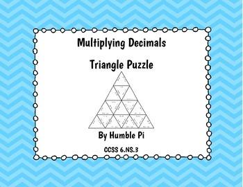 Multiplying Decimals Triangle Puzzle- 6.NS.3