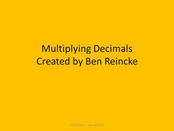 Multiplying Decimals TurningPoint Clicker Presentation