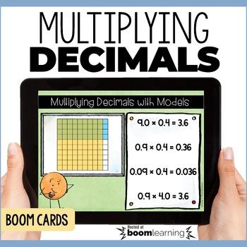 Multiplying Decimals Using Models Digital Task Cards