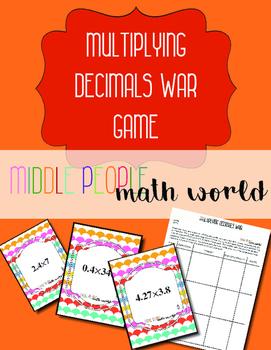 Multiplying Decimals War Game