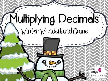 Multiplying Decimals Winter Wonderland Board Game