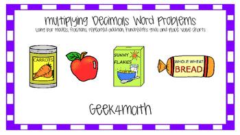 Multiplying Decimals Word Problems