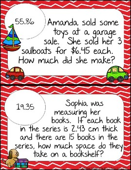 Multiplying Decimals Word Problems - Math Scavenger Quests