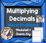 Multiplying Decimals Word Problems Worksheet Practice Homework Multiply