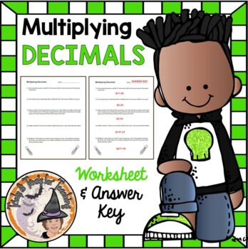 Multiplying Decimals Word Problems and Computation Multiply w/ Answer KEY