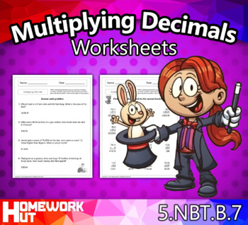 5.NBT.7 - Multiplying Decimals Worksheets