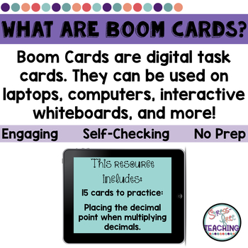 Multiplying Decimals and Move the Decimal Point Boom Cards