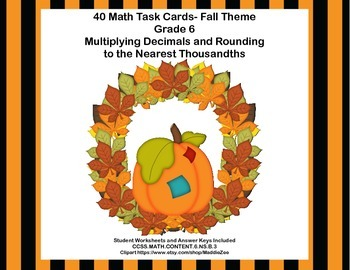 Multiplying Decimals and Rounding  to the Nearest Thousandths-Grade 6 Math- CCSS