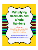 Multiplying Decimals and Whole Numbers- Standard Algorithm