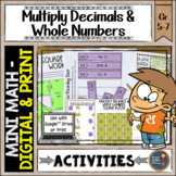 Multiplying Decimals & Whole Numbers Math Activities Googl