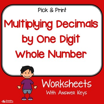 Multiplying Decimals By 1 Digit Whole Number Worksheets Tpt