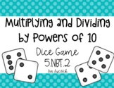 Multiplying Decimals by 10, 100, and 1,000 Dice Game