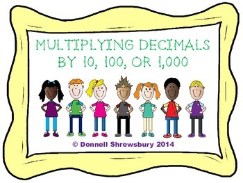 Multiplying Decimals by 10, 100, or 1,000 Scoot Activity
