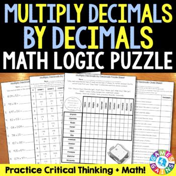 Multiplying Decimals by Decimals {5.NBT.7} Math Logic Puzzle