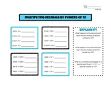 Multiplying Decimals by Powers of 10  5.NBT.A.2