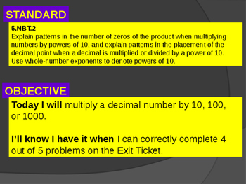 Multiplying Decimals by Powers of 10