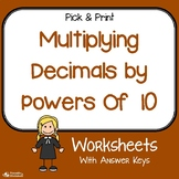 Multiplying Decimals By Powers Of 10 Worksheets
