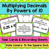 Multiplying Decimals by Powers of 10 Task Cards