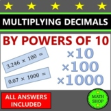 Multiplying Decimals by Powers of Ten