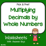 Decimal And Whole Number Multiplication Worksheets