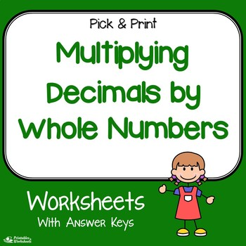 decimal and whole number multiplication worksheets by printables and  decimal and whole number multiplication worksheets by printables and  worksheets