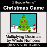 Multiplying Decimals by Whole Numbers   Christmas Decoration Game