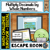 Multiplying Decimals by Whole Numbers Digital Math Escape Room