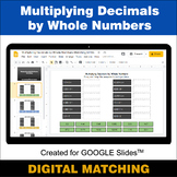 Multiplying Decimals by Whole Numbers - Google Slides - Ma