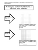 Multiplying Decimals by Whole Numbers with Models