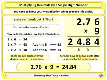 Multiplying Decimals for Elementary School Math