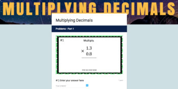Multiplying Decimals for Google Classroom (2 different levels!)